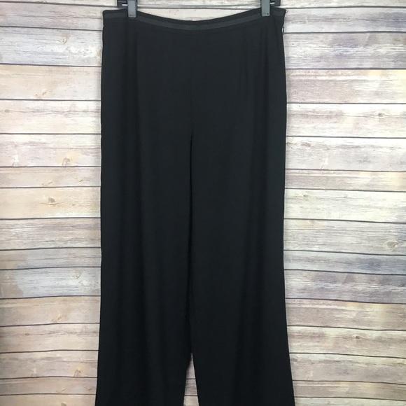 232eeb01b1dd Escada Pants - Escada Solid Black 100% Wool Flare Wide Leg Pants